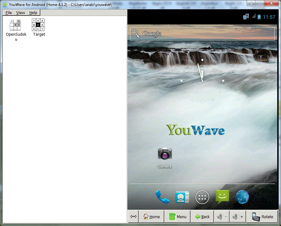 برنامج YouWave لمحاكاة تطبيقات الاندرويد