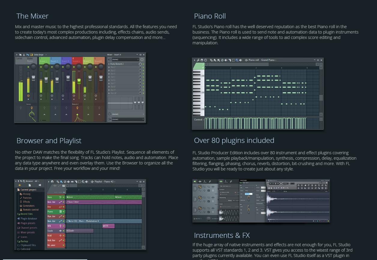 ادوات برنامج FL Studio 12