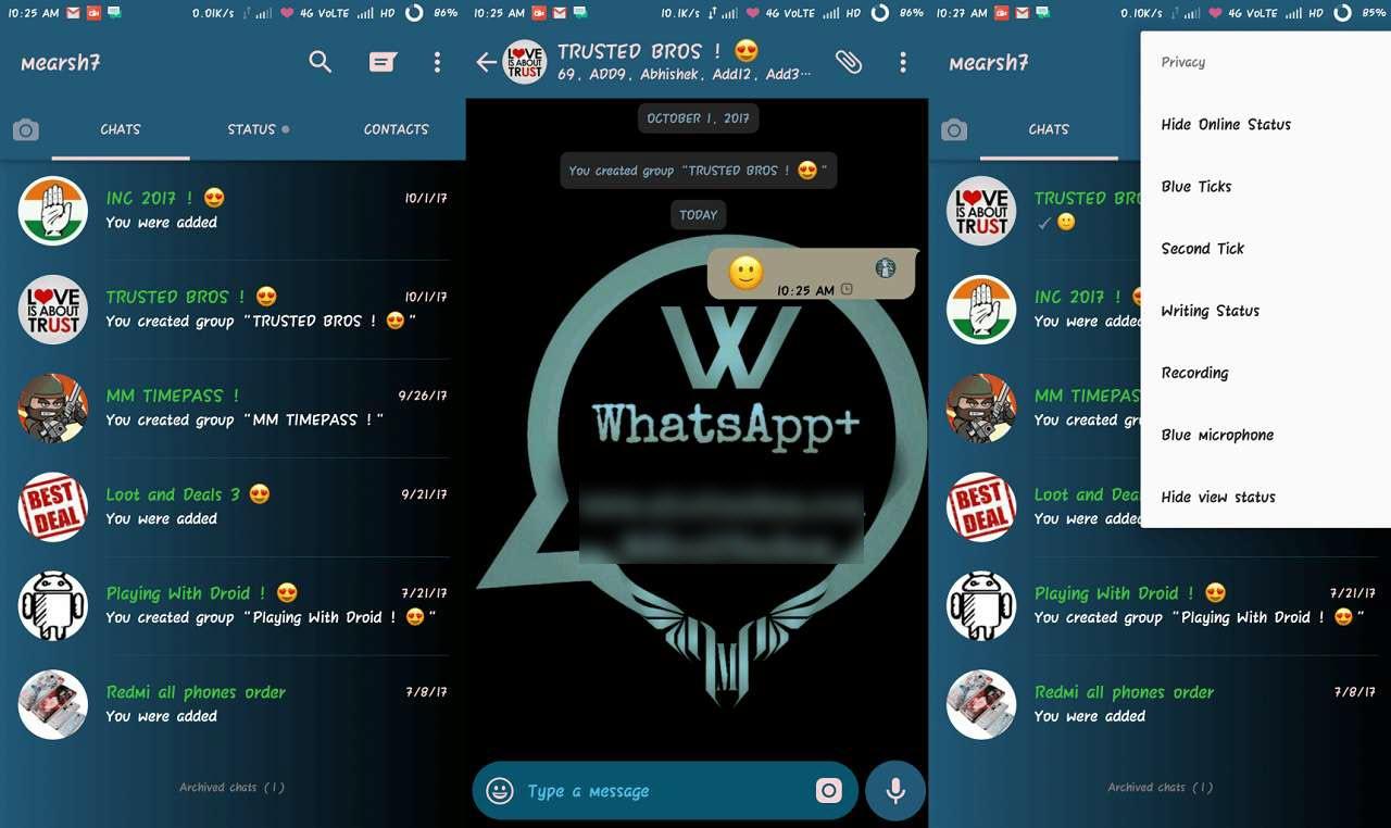 الاضافات الحديثة في برنامج whatsapp plus