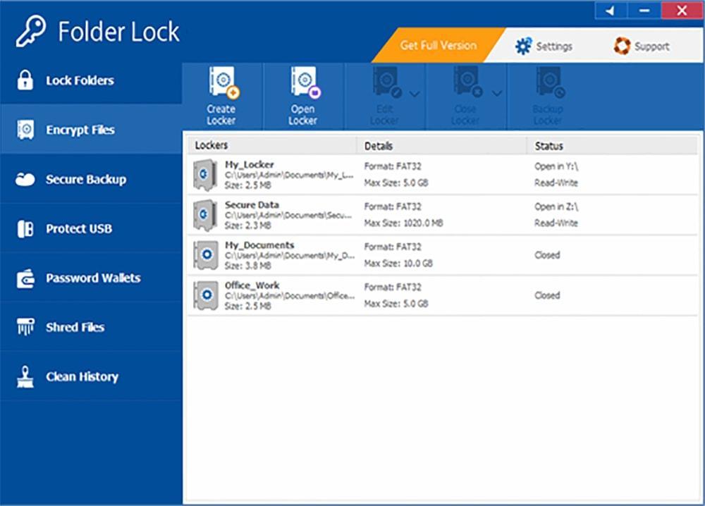 ترميز الملفات في برنامج قفل الملفاتFolder Lock