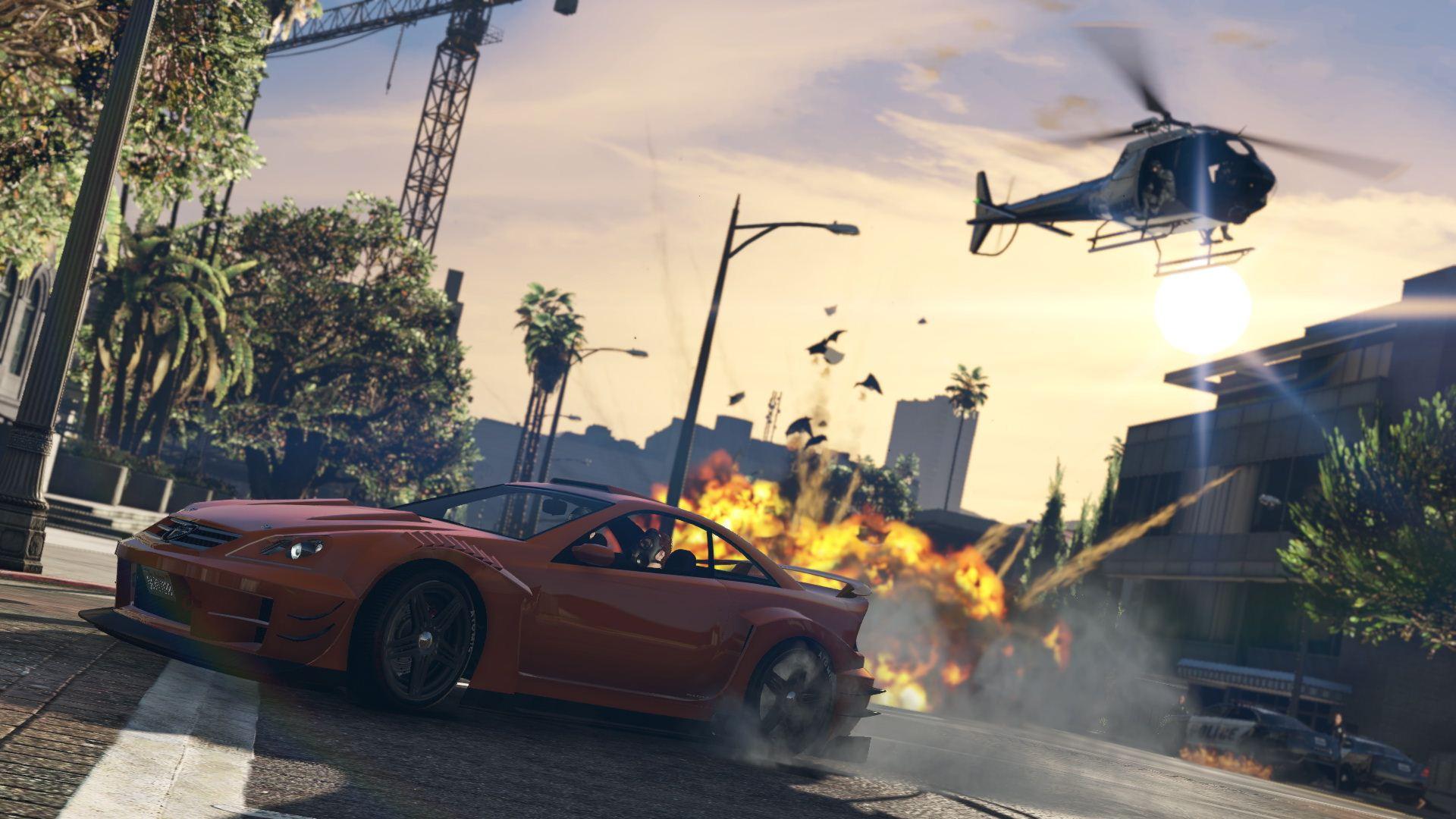 جرب المغامرة مع لعبة جاتا GTA V