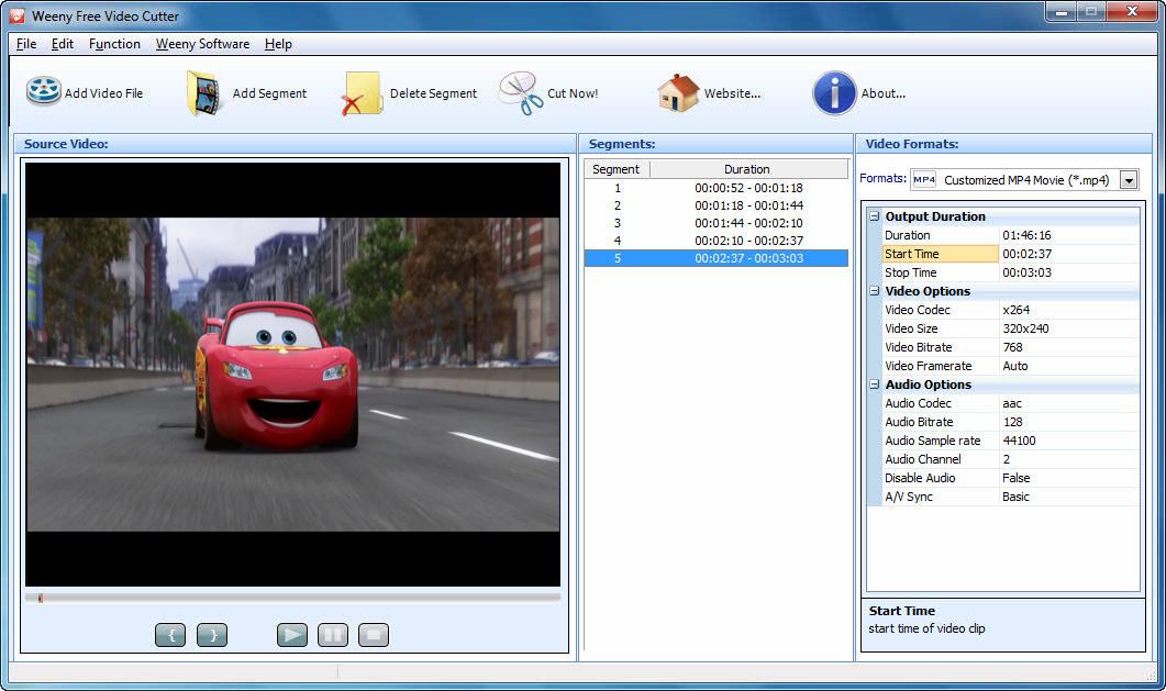 جودة الفيديو في برنامج قص الفيديو
