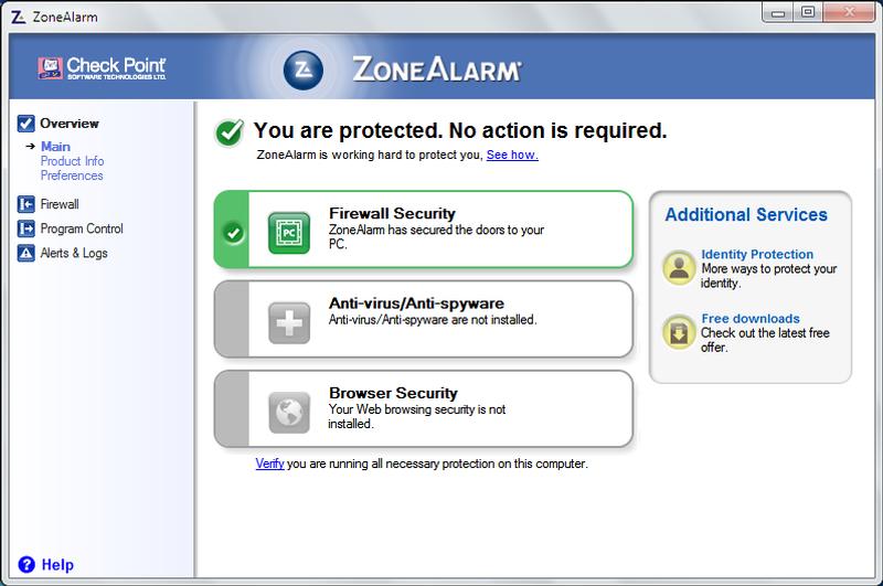 سرعة برنامج زون ألارم ZoneAlarm في فحص الكمبيوتر