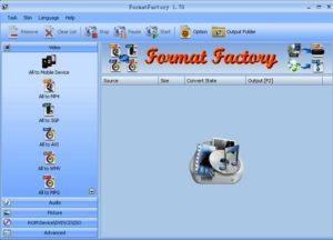 صورة من واجهة تحميل برنامج Format Factory
