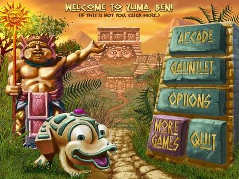 صورة من واجهة لعبة zuma deluxe