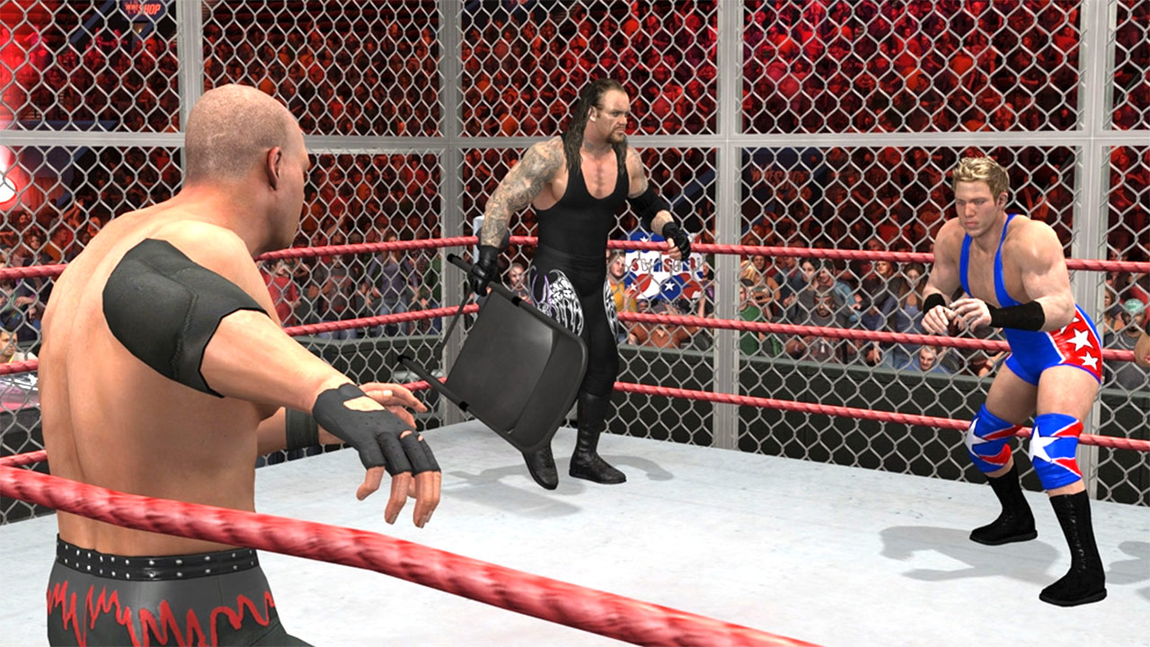 صور من لعبة المصارعة للكمبيوتر