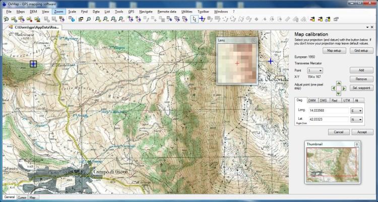 استخدام الخرائط في برنامج OkMap GPS