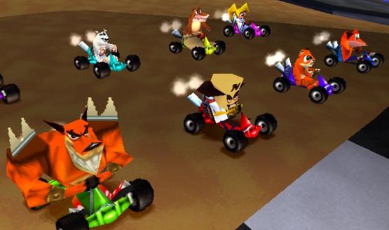 التحدي في لعبة كراش crash team racing