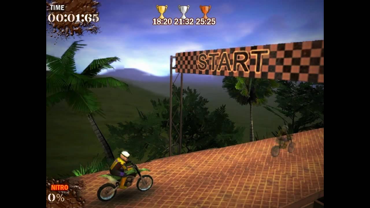 صورة للمستوي الأول من لعبة الموتوسكلات