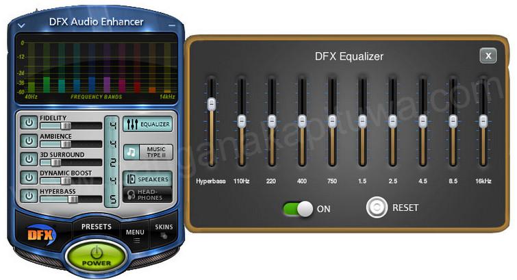 صورة من واجهة برنامج مضخم الصوت