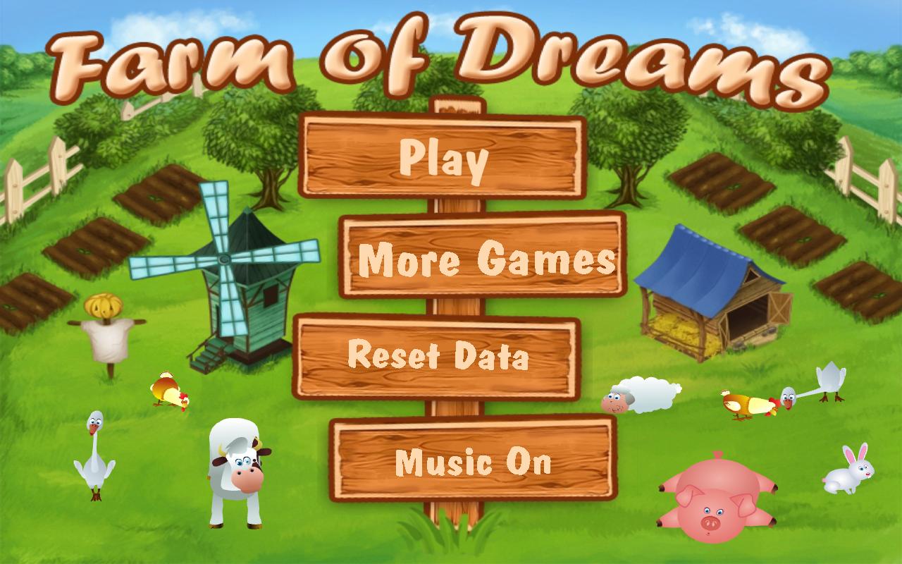 واجهة لعبة مزرعة الاحلام للكمبيوتر