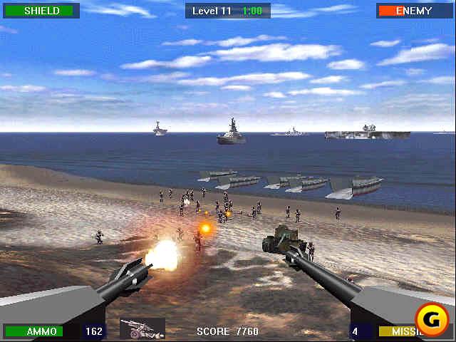 الجرافيك في لعبة حرب الشاطئ