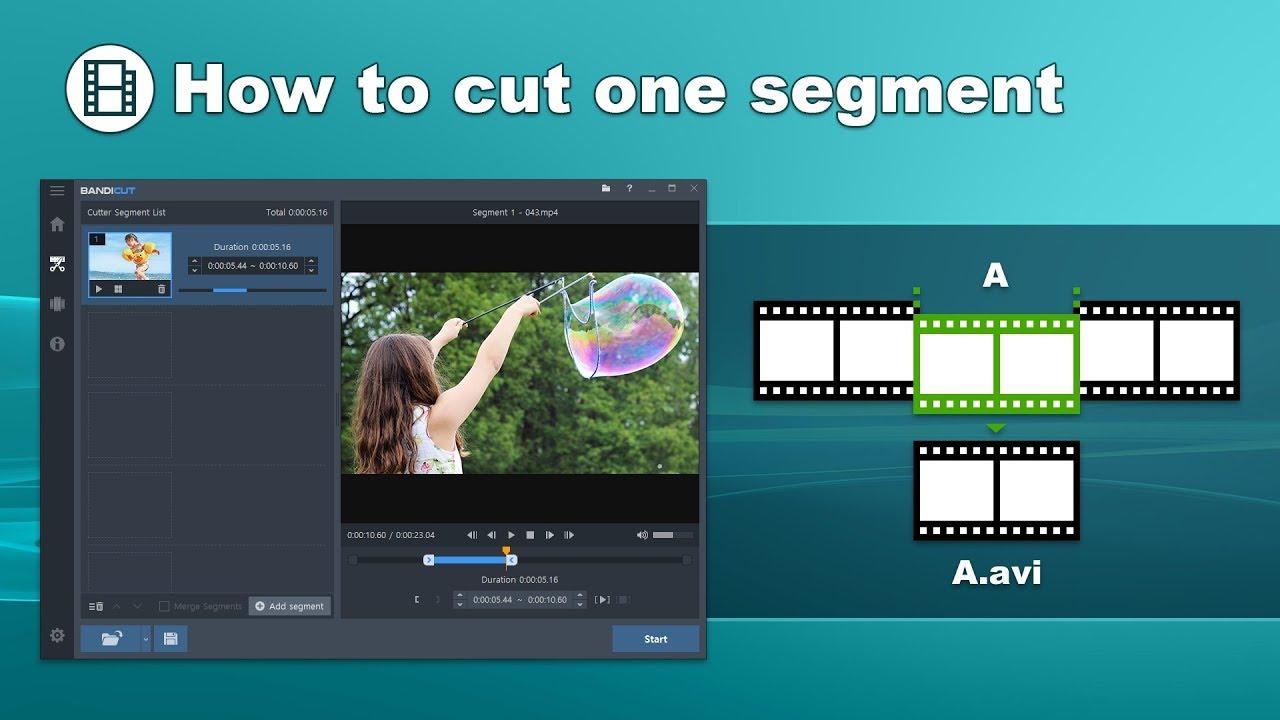 برنامج Bandicut لقطع ودمج الفيديوهات