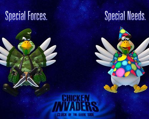 سهولة لعبة الفراخ 5 Chicken Invaders للكمبيوتر