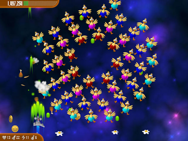 شهرة لعبة Chicken Invaders 3