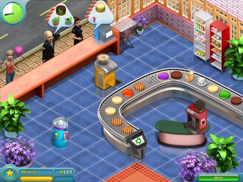 صورة من إعدادات لعبة متجر الكعك