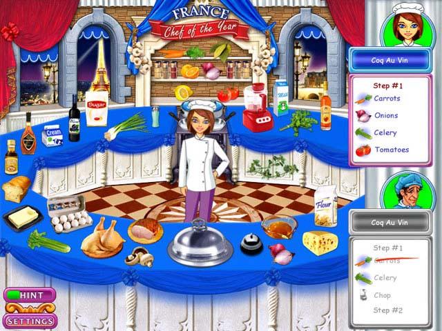 صورة من اعدادات لعبة المطعم