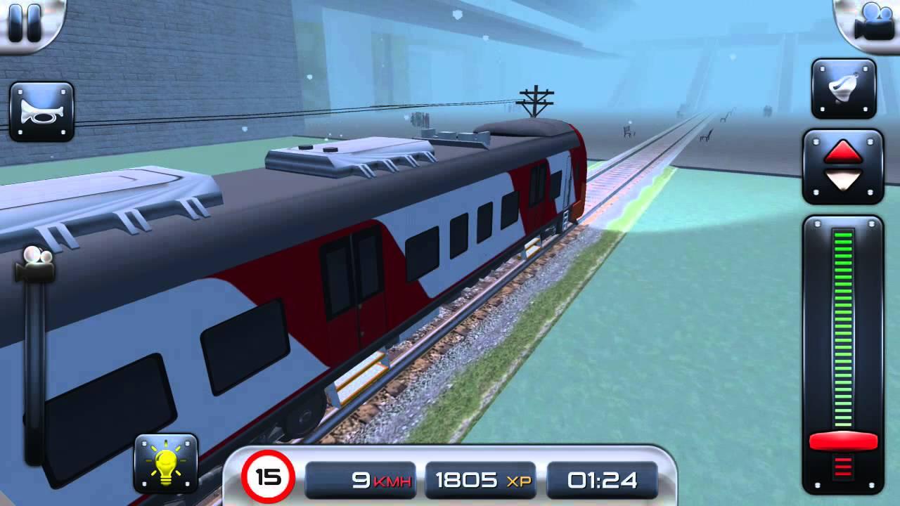 صورة من اعدادات لعبة قيادة القطار