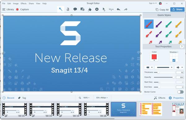 صورة من واجهة برنامج تسجيل الشاشة فيديو