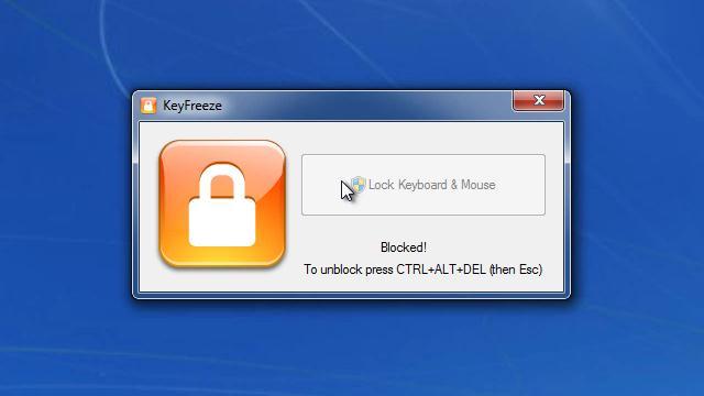 صورة من واجهة برنامج قفل لوحة المفاتيح والماوس