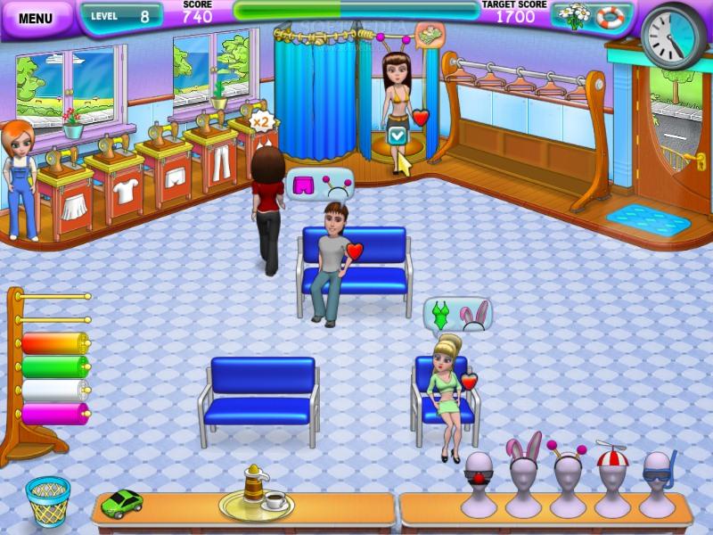 صورة من واجهة لعبة الخياطة والتطريز