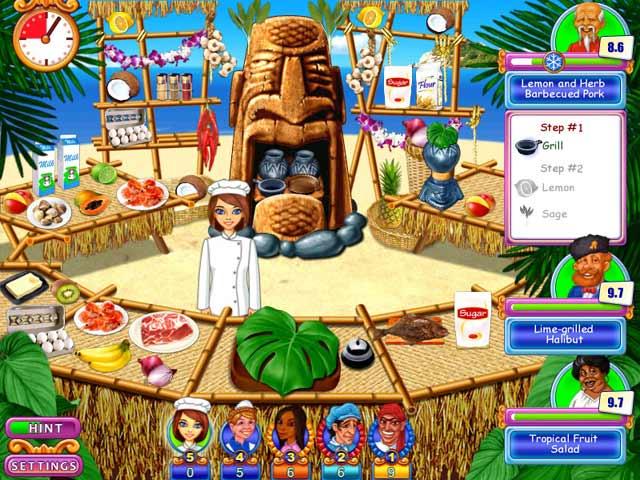 صورة من واجهة لعبة المطعم
