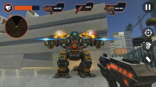 صورة من واجهة لعبة حرب الربوتات