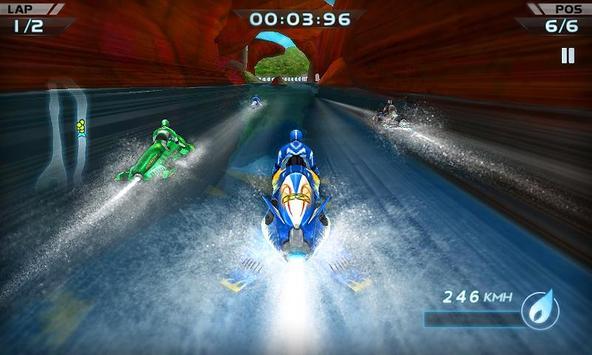 صورة من واجهة لعبة سباق القوارب