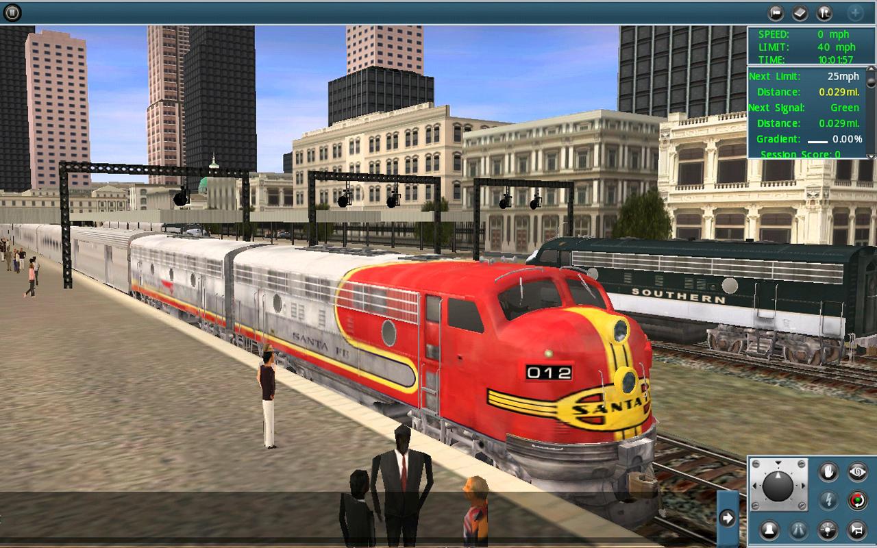 صورة من واجهة لعبة قيادة القطار