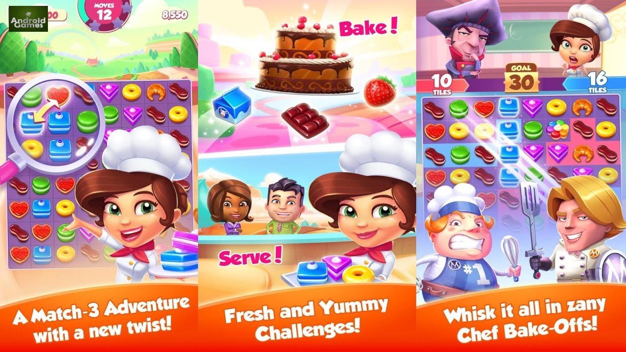 صورة من واجهة لعبة متجر الحلويات