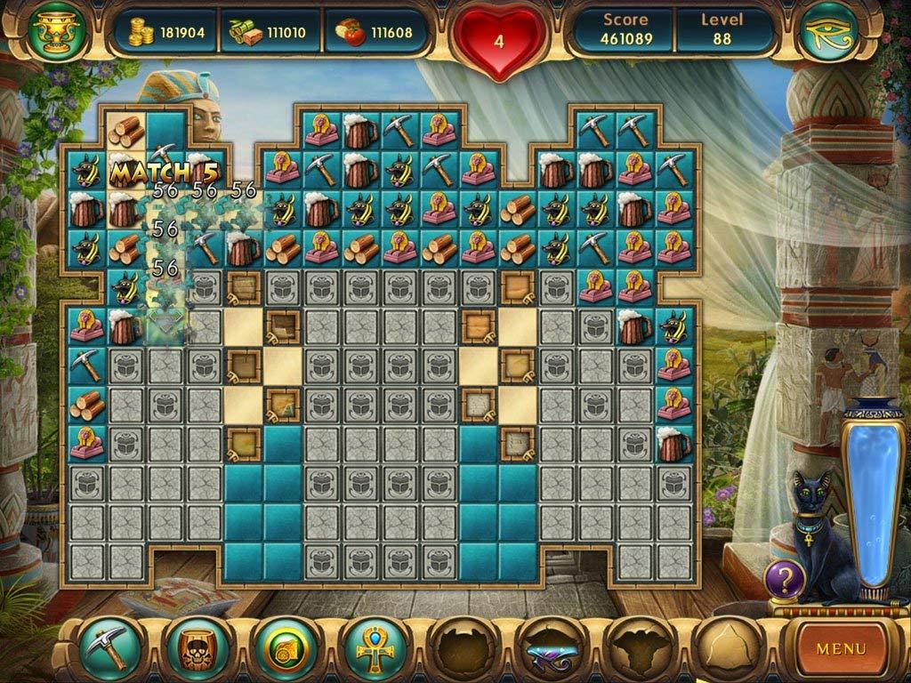 مراحل اللعب في لعبة بناء الاهرامات