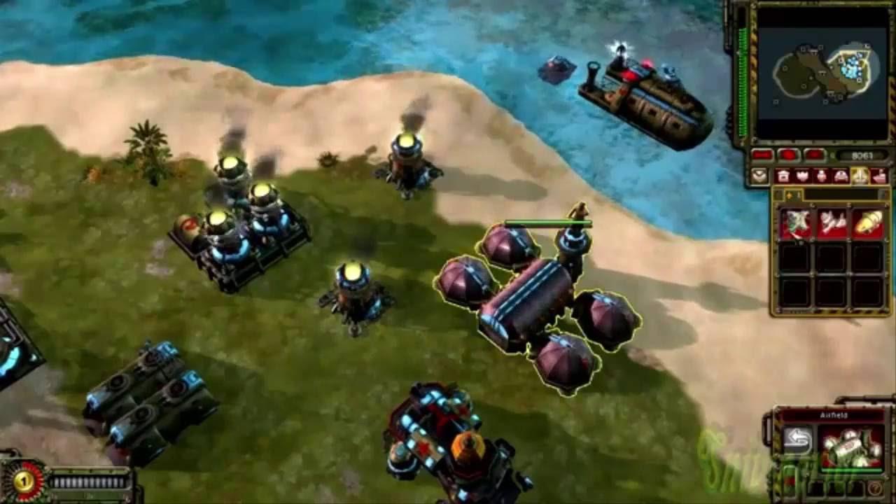 وجود عناصر مائية في لعبة Red Alert 3