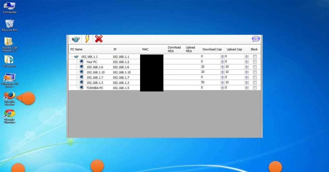 التقرير عن الشبكة في برنامج سيلفش نت