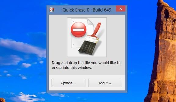 برنامج quick erase