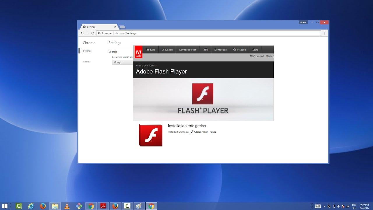 تشغيل الألعاب في برنامج Adobe Flash Player