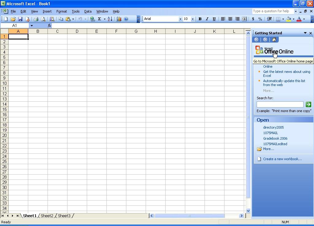 تعامل برنامج 2003 office للكمبيوتر مع الكثير من الصيغ