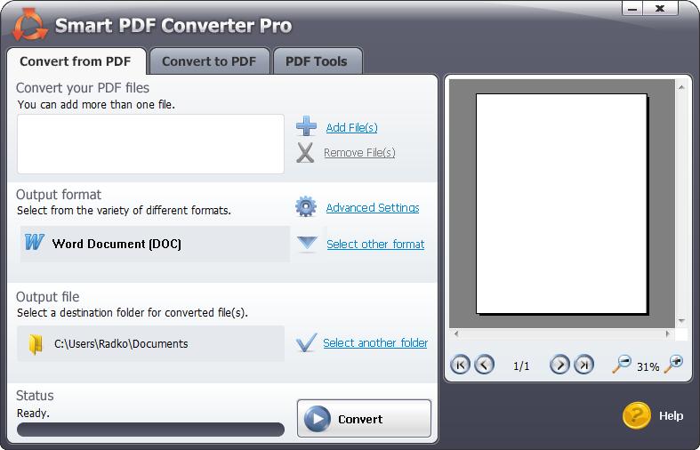 سهولة الاستخدام في برنامج تحويل pdf الى word للكمبيوتر