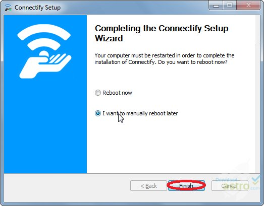 صورة من واجهة برنامج كونكت فاى لتحويل اللاب توب الى روتر