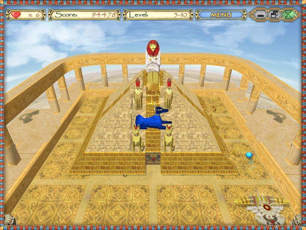الامان في لعبة الكرة النارية egyptian ball للكمبيوتر