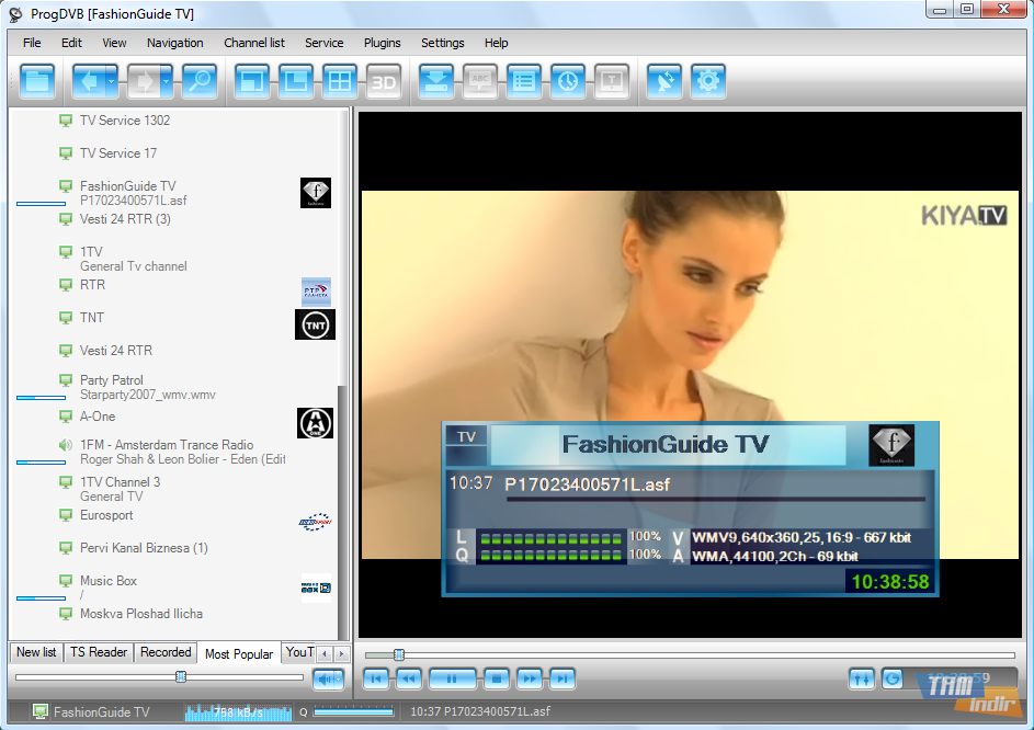 مساحة برنامج تشغيل كروت الستالايت ProgDVB