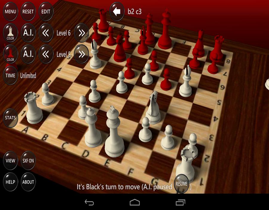وجود مؤثرات صوتية في لعبة الشطرنج chess