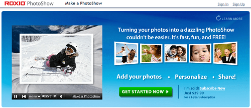 التأثيرات المختلفة في برنامج Slideshow XL