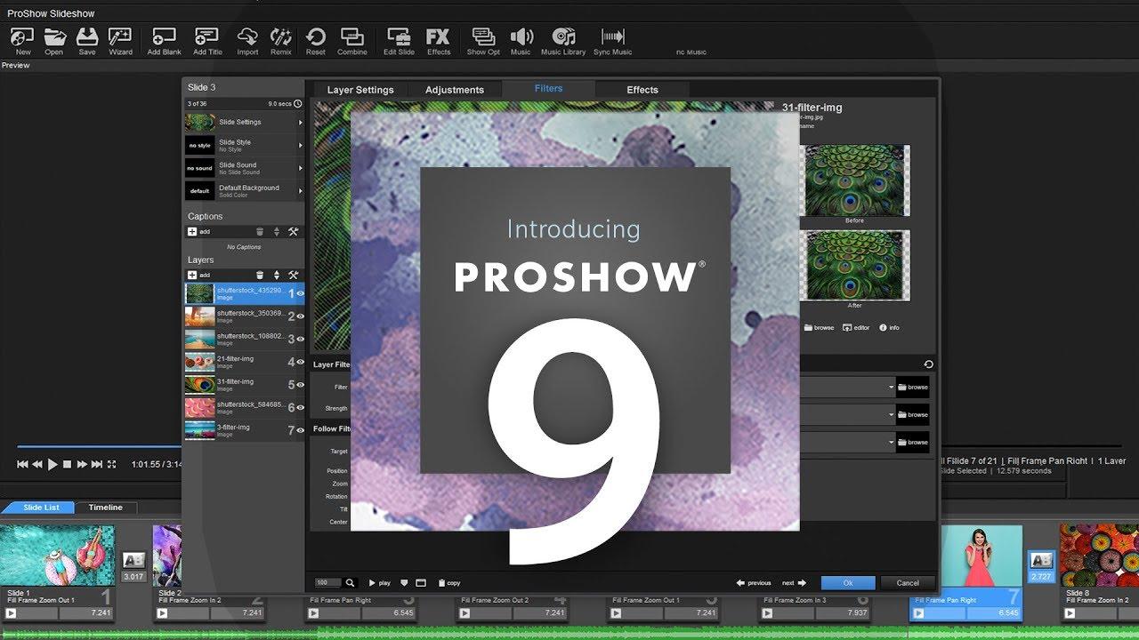 الحجم الصغير في برنامج برو شو Proshow للكمبيوتر