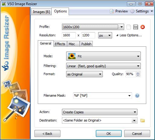 اللغات المختلفة في برنامج Light Image Resizer