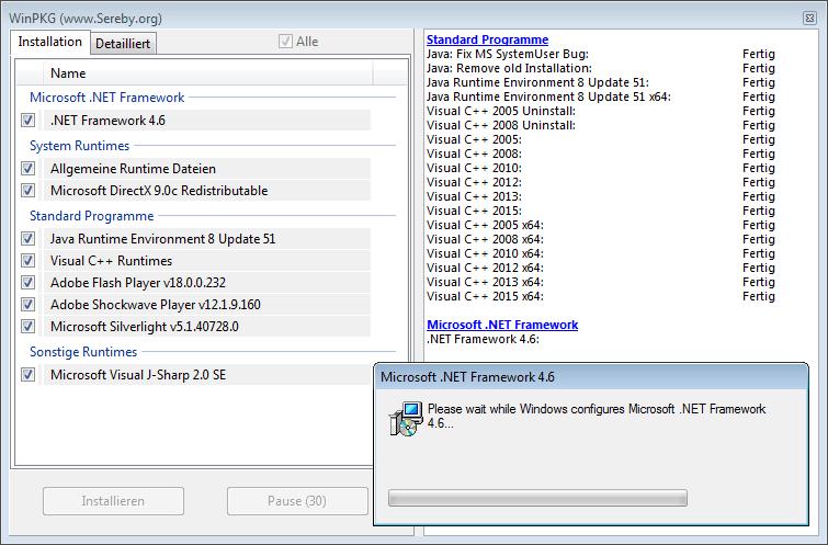 امكانية تثبيت التطبيقات في برنامج all in one runtimes