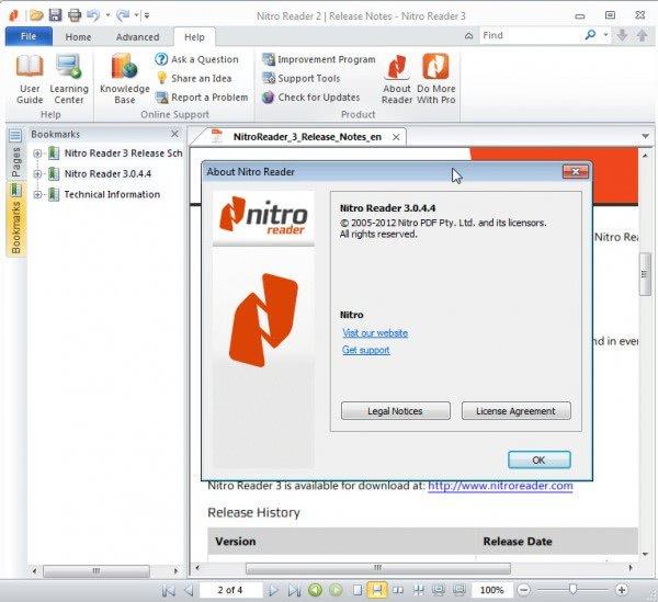 تحرير الملفات في برنامج Nitro PDF Reader