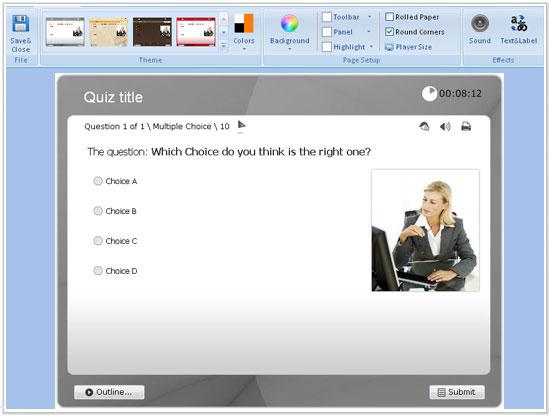 سماح برنامج Wondershare QuizCreator بإدراج الرموز