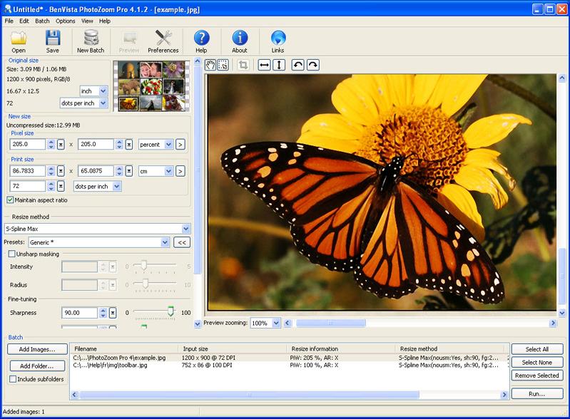 صغر حجم برنامج PhotoZoom للكمبيوتر