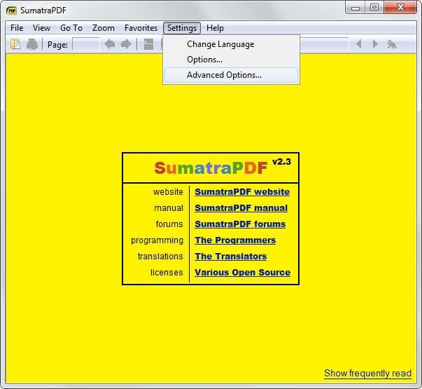 صغر حجم برنامج sumatra للكمبيوتر