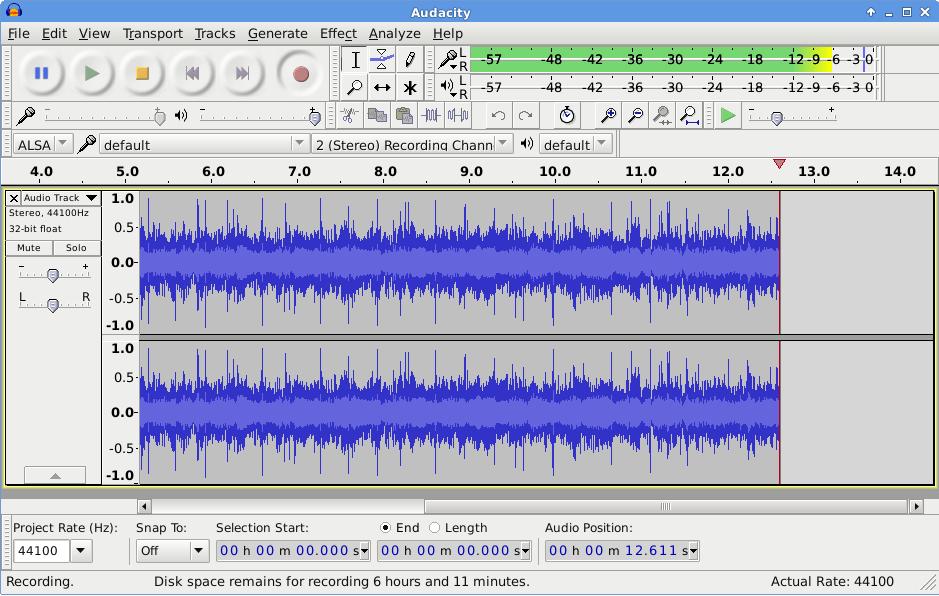 مجانية برنامج audacity فصل الصوت عن الموسيقي للكمبيوتر